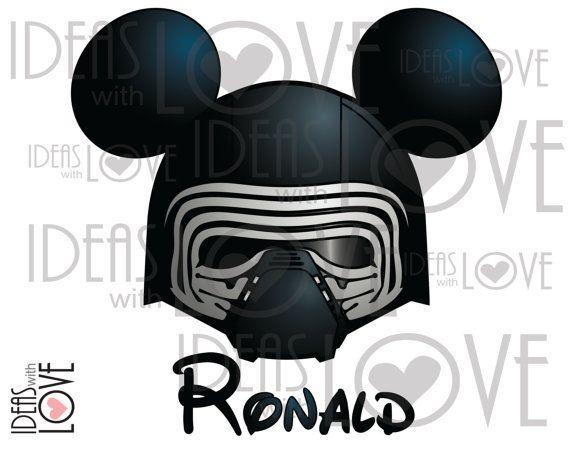 Kylo Ren Star Wars Inspired Mickey Ears Printable by IdeasLove