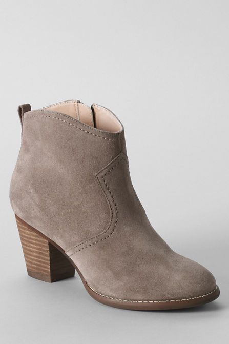Love zip up beige suede booties right now. Size 7.5. There are probably similar cheaper ones somewhere, and those would be fine too! Women's Harris Suede Ankle Boots from Lands' End