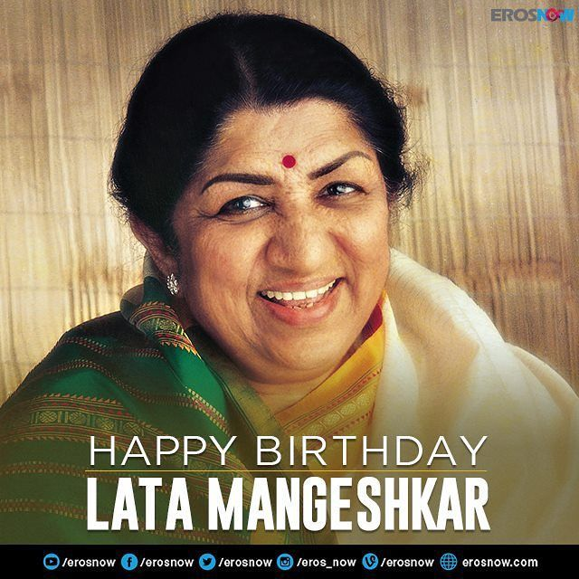 Today marks the 85th birthday of Indian cinema's sweetest voice! We wish Lata Mangeshkar a very Bappy Birthday!