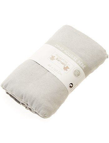 Lenzuolo con angoli tinta unita per letto bebè grigio Neonato - Kiabi