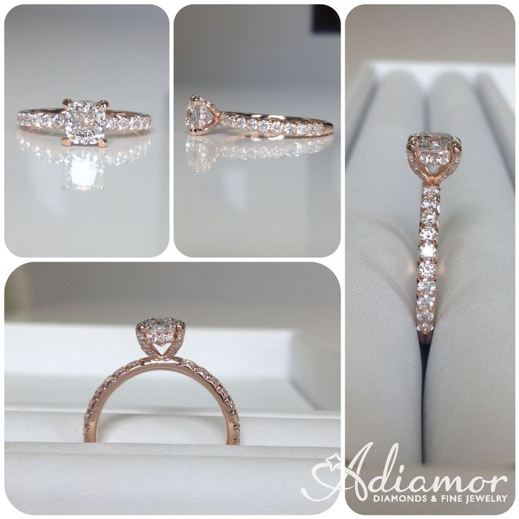 our french engagement basket images rings adiamor on setting pinterest gold rose cut in best
