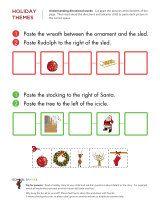 Preschool and kindergarten worksheets - Christmas theme