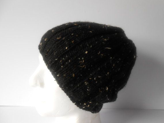 Guy's Beanie Hat Men's black hat Boy's beanie Men's by AluraCrafts