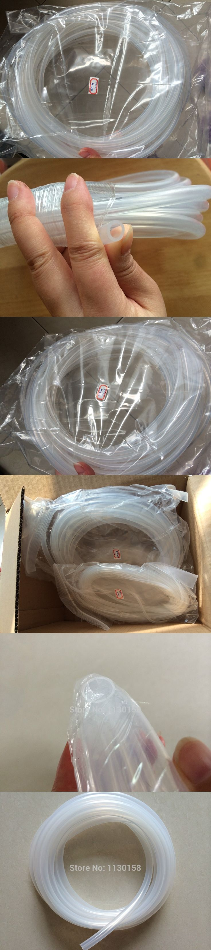 6X8mm ,5 Meters, Transparent Silicone Rubber Tube Food Drink Connecting Silicone Rubber Tube