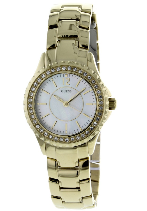 Price:$106.25 #watches Guess I11068L1, Stainless steel case, Stainless steel bracelet, Mother of Pearl dial, Quartz movement, Scratch-resistant mineral, Water resistant up to 5ATM - 50 meters - 165 feet