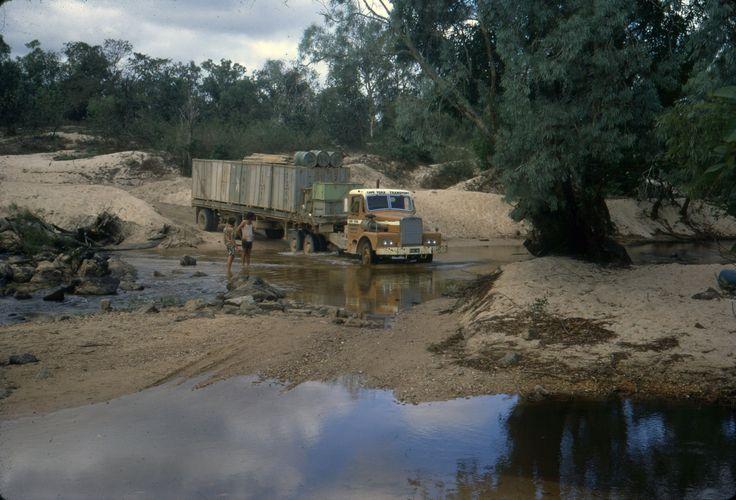 https://flic.kr/p/AwFMGT | DL061_010 | Cape York Transport Leyland semi-trailer, river crossing, Far North Queensland. David Lidster photo