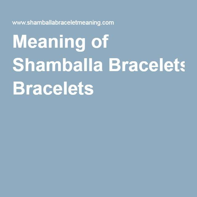Meaning of Shamballa Bracelets