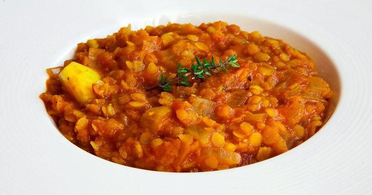 Lentejas rojas al curry