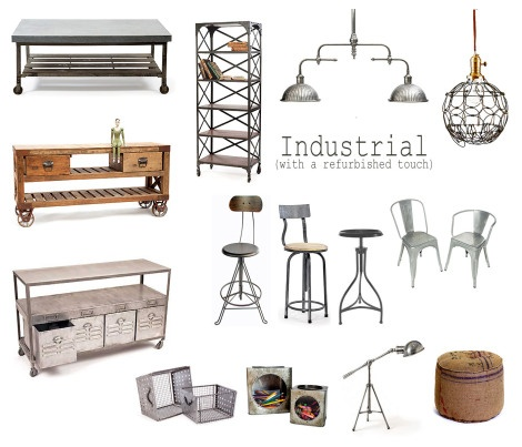 Industrial decor- this site was made for my husband