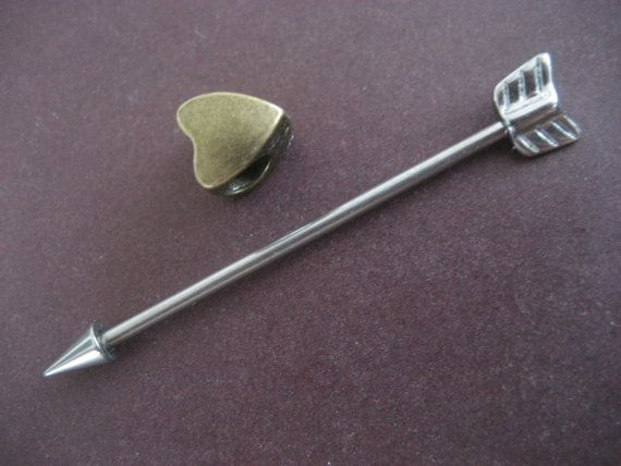 Cupids Arrow Industrial Barbell Ear Piercing by Azeetadesigns $12.50  want for my piercing.