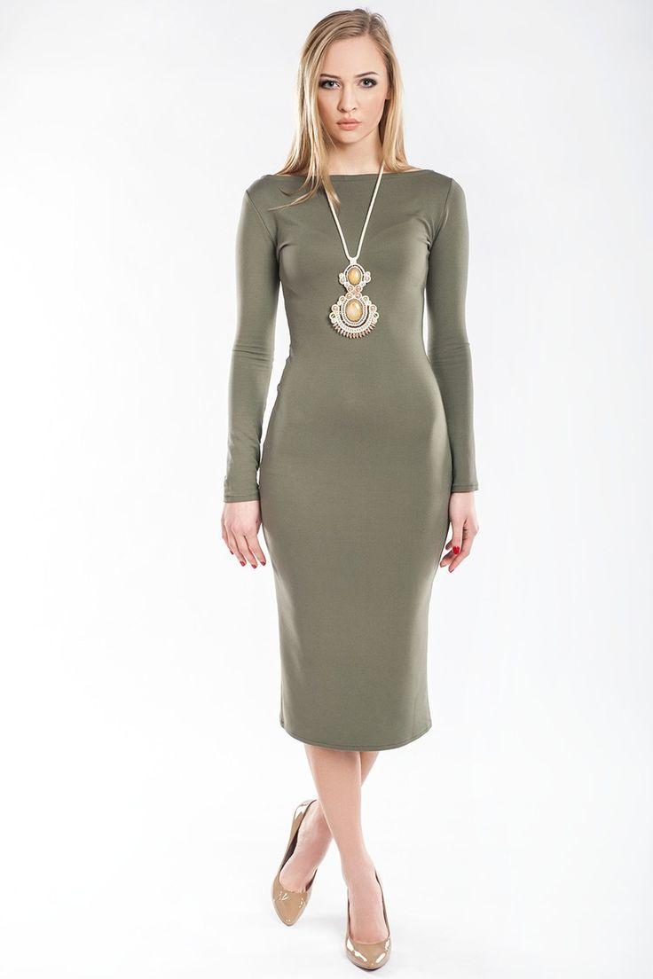 Sukienka Model SL2148 Khaki #modadamska  #sukienkiletnie #sukienka #suknia