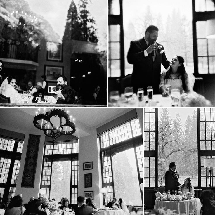 Black and White | Bride and Groom | Yosemite Wedding Reception | Snow | B. Wright Photo: Bwright Photography, Film Photography, Wedding Reception, Bride, Wright Photos, Yosemite Wedding
