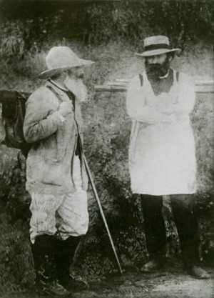 Camille Pissarro and Paul Cézanne  c. 1873