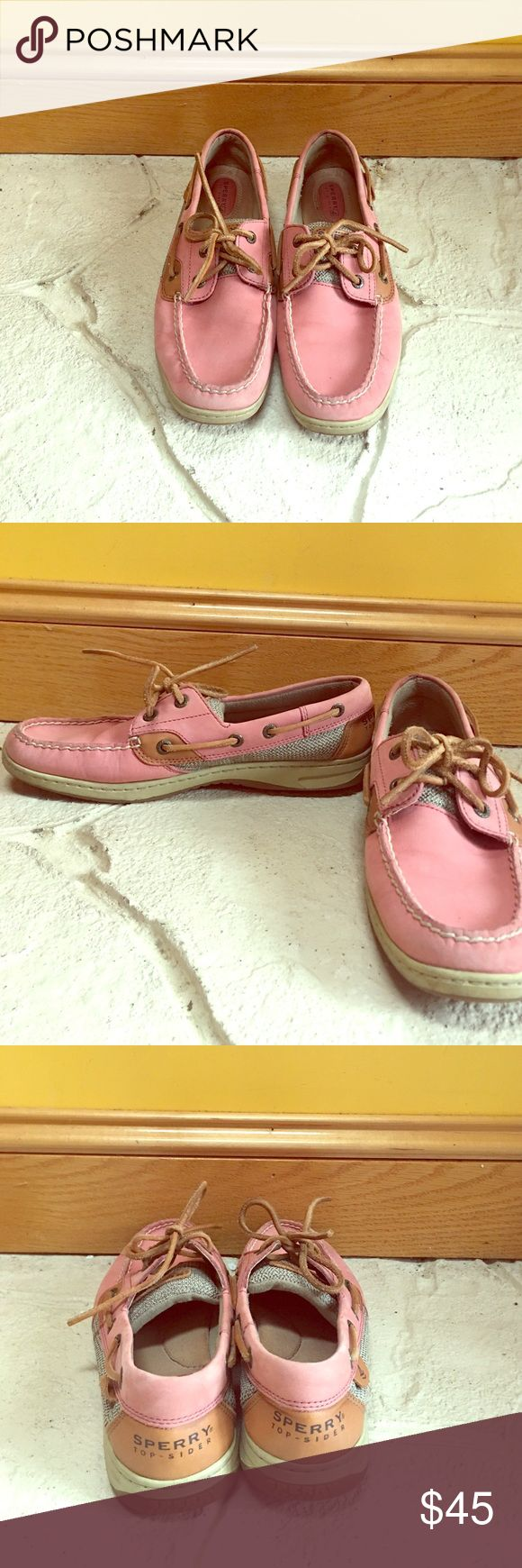 Pink Sperry's Pink boat shoes, size 8.5 women's, super comfortable, only worn a few times! Sperry Top-Sider Shoes Flats & Loafers