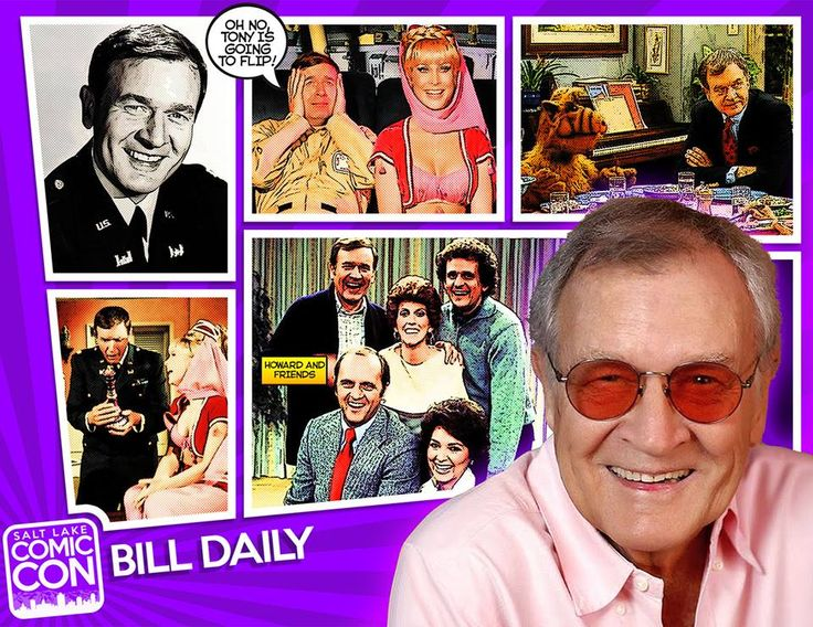 Welcome our next Salt Lake Comic Con 2014 guest... comedian, actor, and television veteran... Bill Daily! He is best known for playing astronaut Roger Healey, best friend of Major Nelson on I Dream of Jeannie and commercial airline navigator Howard Borden on The Bob Newhart Show. Other notable roles include: My Mother the Car, Bewitched, The Mary Tyler Moore Show, Love Boat, and CHiPs.