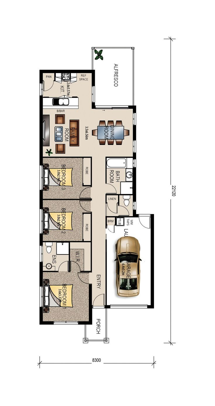 Albany Single Garage Floor Plan