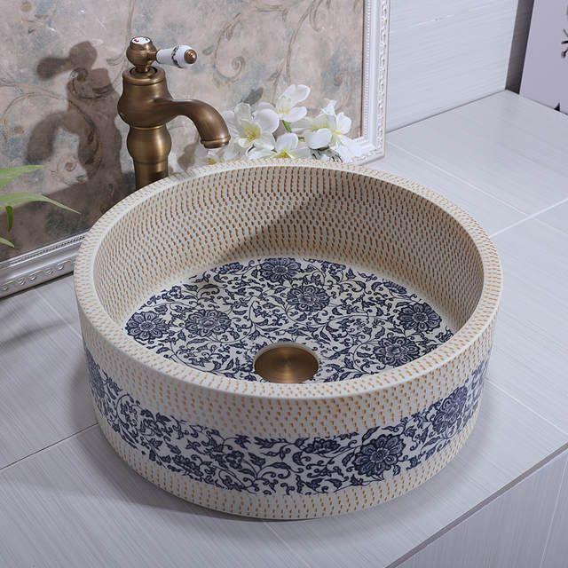 Online Shop Handgemachte Europa Vintage Style Lavobo Keramik Bad Arbeitsplatte Badezimmer Waschbecken Waschbecken Fur Badezimmer Nel 2020 Idee Per Il Bagno Lavandini Da Bagno Ceramica