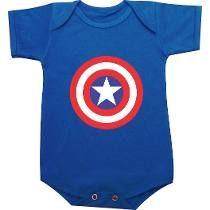 Body infantil Capitão América em http://www.katanapresentes.com.br/61744/body-infantil-capitao-america