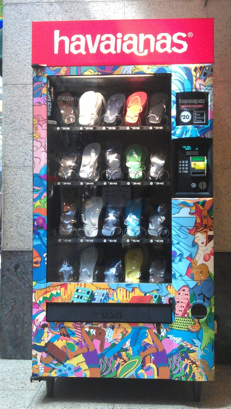 Havaianas vending machine in Australia.