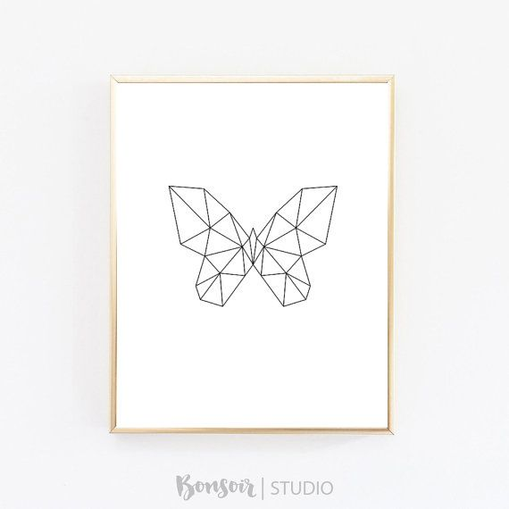 Geometric Butterfly Print INSTANT DOWNLOAD…