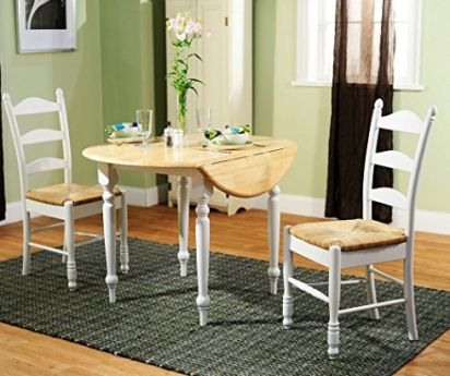 SIMPLE LIVING 3 PIECE DINING SET   Cute Small Kitchen Table Set Includes A  Set