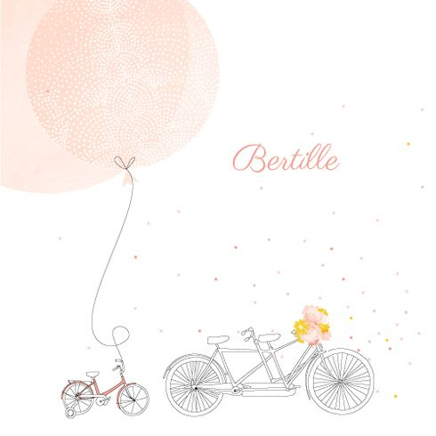 Faire-part de naissance À bicyclette (1 enfant) photos by My Lovely Thing pour www.fairepartnaissance.fr #birth #announcement
