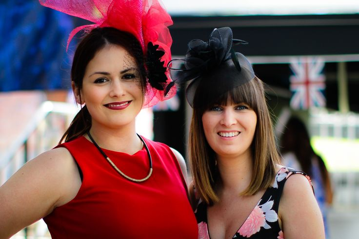Headwear is a must-have on a race day. Haven't these ladies done it well?