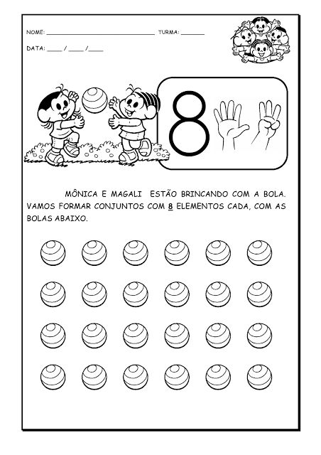 Alfabetizando com Mônica e Turma: Atividades matemáticas: Sports Voor, Thema Sports, 2013 Kleuter, Elementos Para, Atividad Matemática, Voor Kleuter, Elemento Para, Atividad Infanti, Atividad Sobr