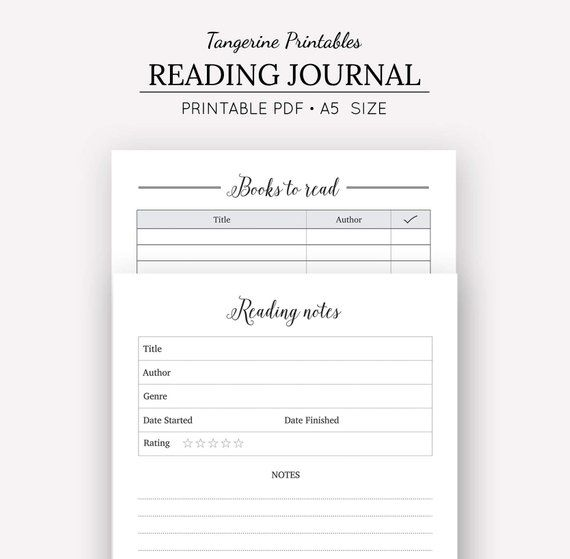 This is a photo of Comprehensive Reading Journal Printable