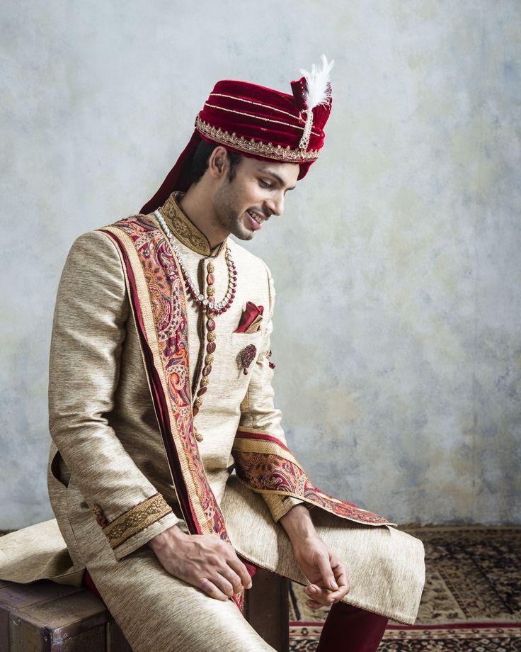 Celebrate the wedding in style...embrace yourself with a elegant sherwani from Manyavar #Manyavar#Sherwani