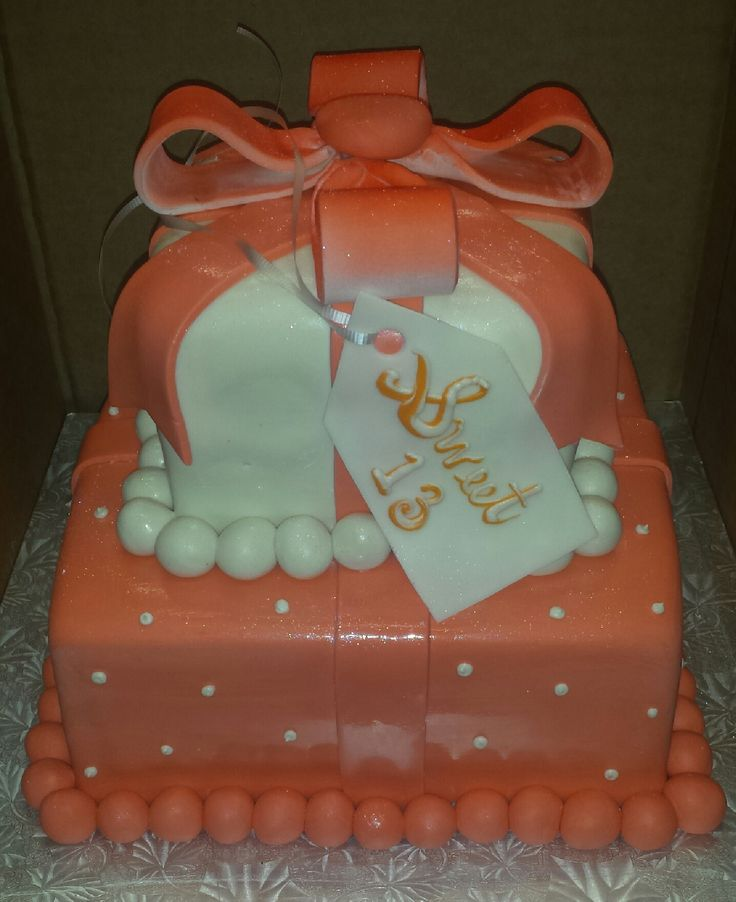 Cake Gift Box Fondant : 88 best Fondant Birthday Cakes images on Pinterest ...