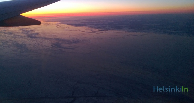 The Baltic Sea at Helsinki covered by a thick layer of ice