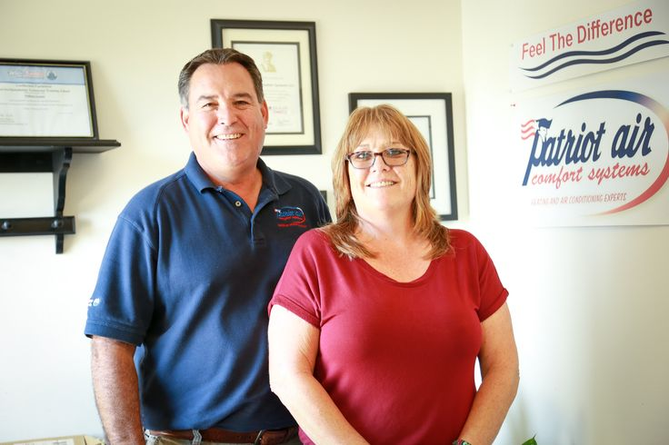 Your heating and cooling needs are in good hands with Bill & Barb at #PatriotAir Comfort Systems! #Columbus #heatingandcooling