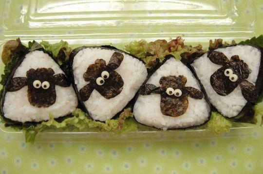 Shaun the Sheep onigiri