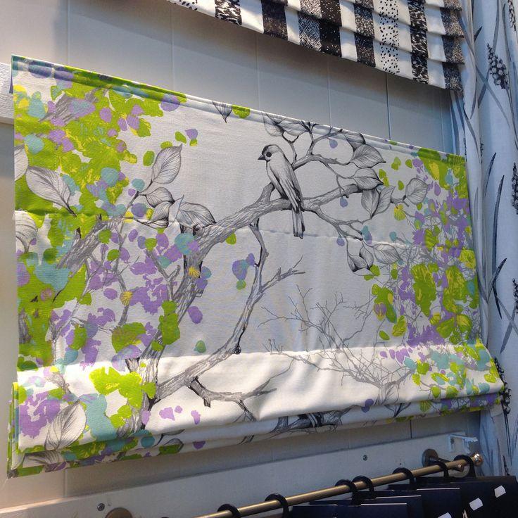 Vallila - Peipponen fabric as roman shade