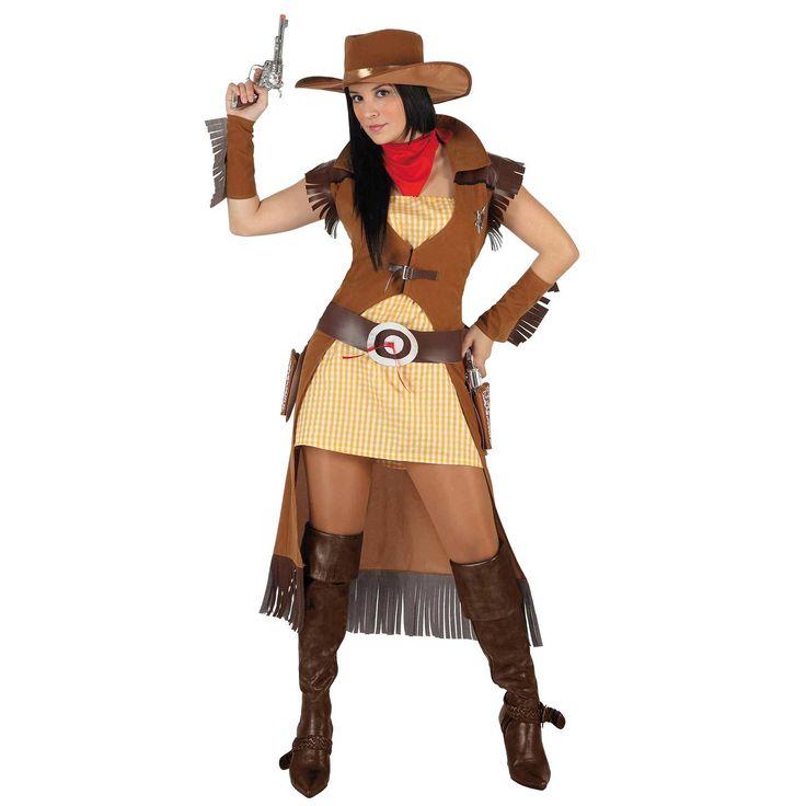 Como hacer un disfraz de vaquera para mujer