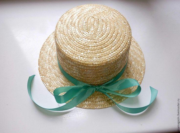 Купить Шляпа канотье - бежевый, однотонный, канотье, шляпка канотье, соломка