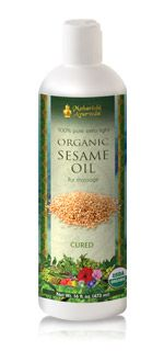 Organic Sesame Oil (Cured). Ayurvedic Massage Oil from vpk, by Maharishi Ayurveda.
