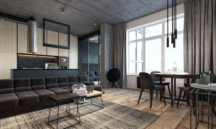 living modern mare canapea loc de luat masa stil open space