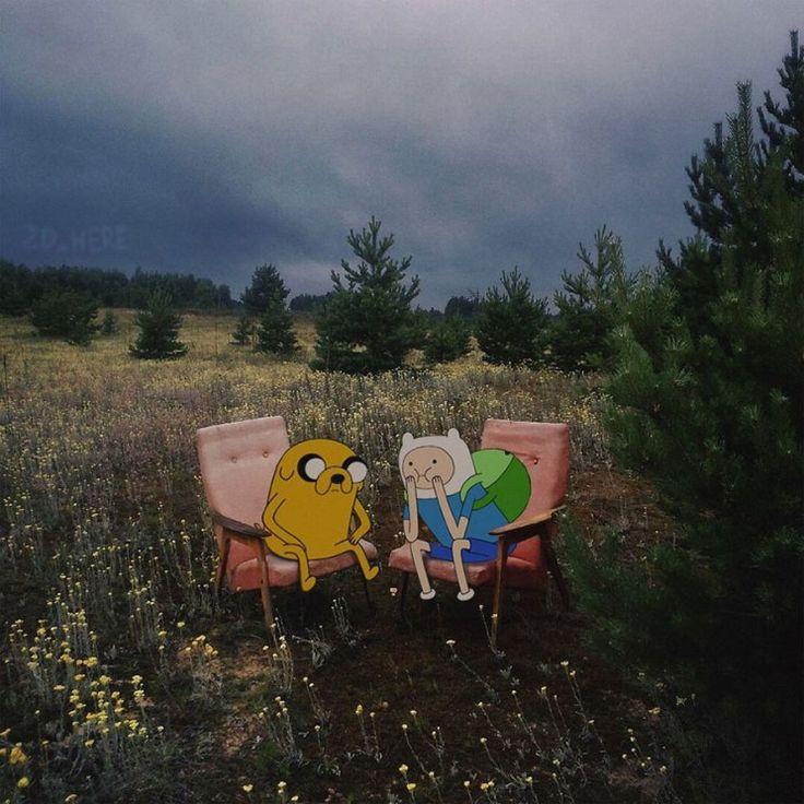 Un proyecto que nos trae a los personajes principales de series animadas y conocidas películas a participar en ambientes fotografiados de la vida cotidiana. Un fotomontaje en serie bastante original. La idea fué de 2D Amoung Us un grupo de una red social rusa que tienen como objetivo presentar distintos fotomontajes con fotografías tomadas por ellos mismos, pero montando personajes de dibujos animados o películas conocidas. Entre ellos aparecen Los Simpsons, Volver al Futuro, Personajes de…