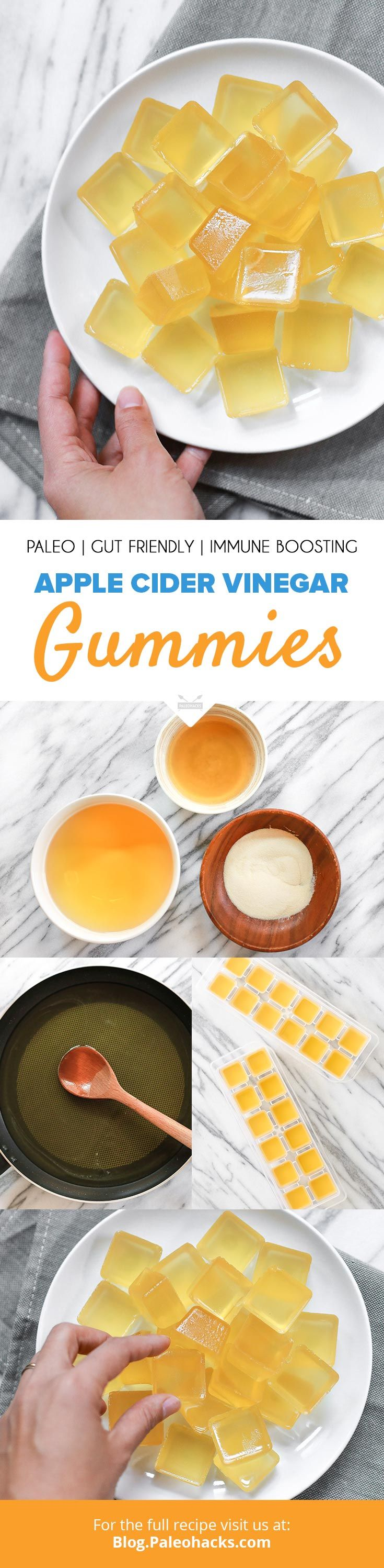 Get your daily dose of ACV in these bite-sized apple cider vinegar gummies! Get the full recipe here: http://paleo.co/ACVgummies