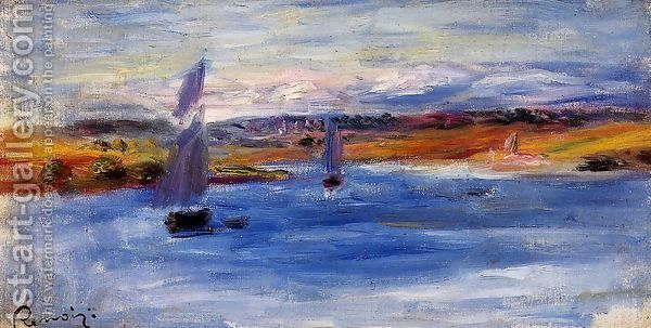 Sailboats by Pierre Auguste Renoir
