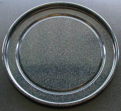 GE Advantium Metal Cook Tray Part # WB49X10053. Measures approximately 12 1/2 inches in overall diameter. Metal turntable plate / tray for GE Advantium microwave / convection ovens. If you are unsure about compatibility please email us with your model number BEFORE ORDERING. Size: Measures approximately 12 1/2 inches. This tray ONLY fits model numbers listed here. Scbc2001css001, Scbc2001css0, Psa1201rss01. Outside diameter of turntable track is 8 3/4 inches.