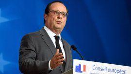 El presidente de Francia,François Hollande, en Bruselas