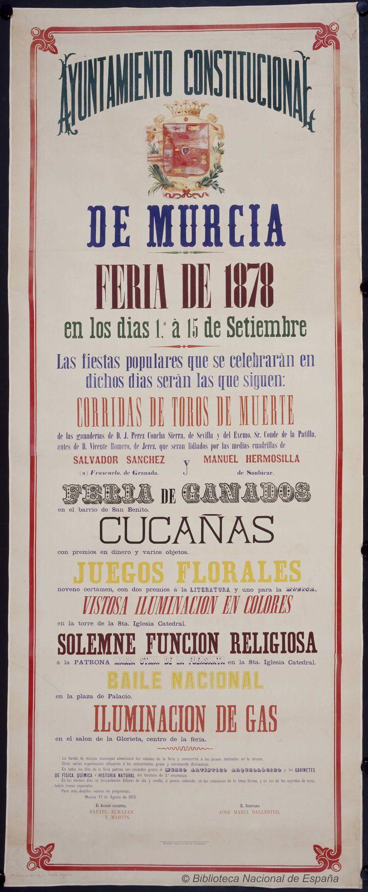 Feria de 1878. Murcia Ayuntamiento — Dibujos, grabados y fotografías — 1878