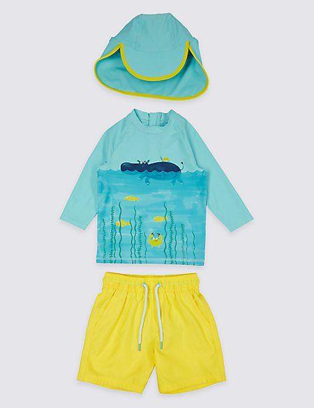 846f3173e8452 Swimsuit Set with Sun Safe UPF50+ (3 Months - 7 Years) | SWIMWEAR ...