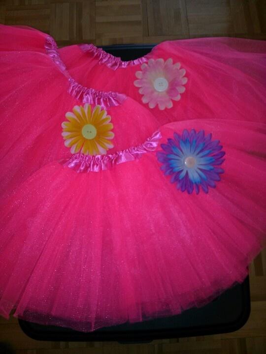 Bright pink tutu www.facebook.com/babybandzbyjen
