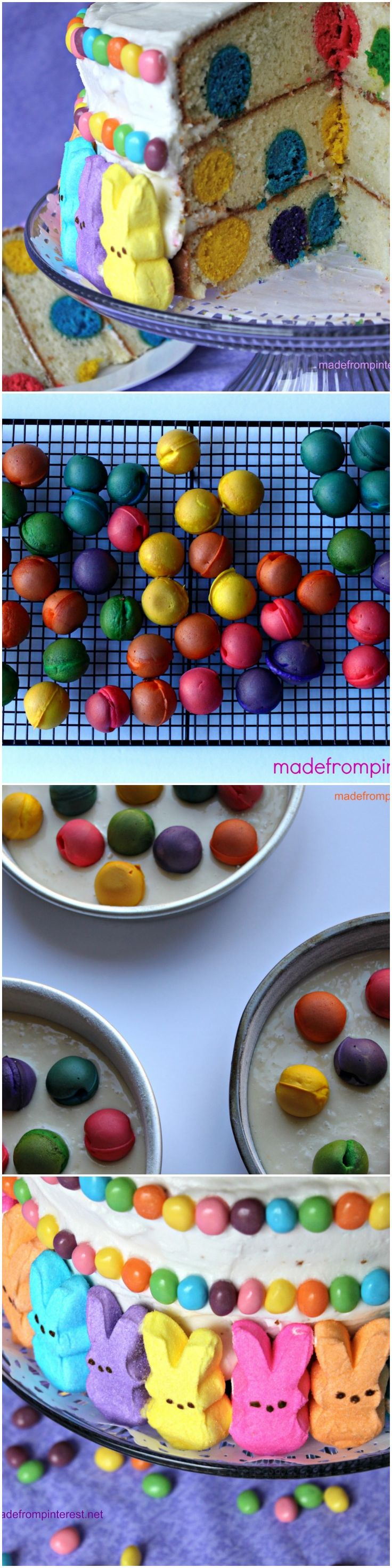 Polka Dot Cake - This is going to be a hit for spring parties and Easter!