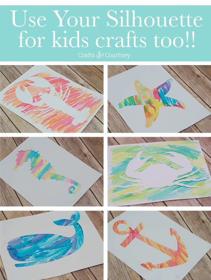 Silhouette Craft - Nautical Water Color Art