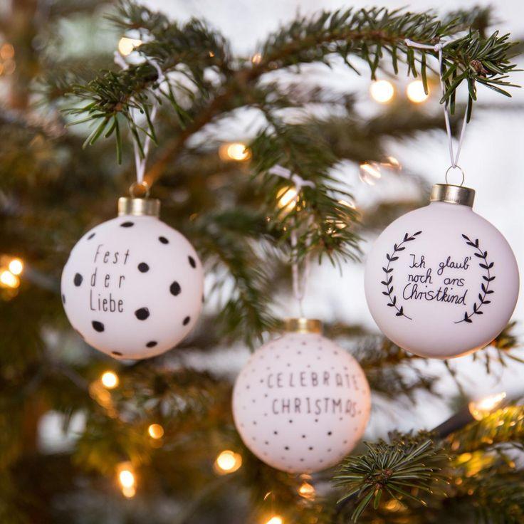 Weihnachtsbaumkugeln selber gestalten...